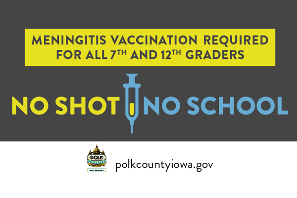 Vaccination Required Before Beginning 7th & 12th Grades